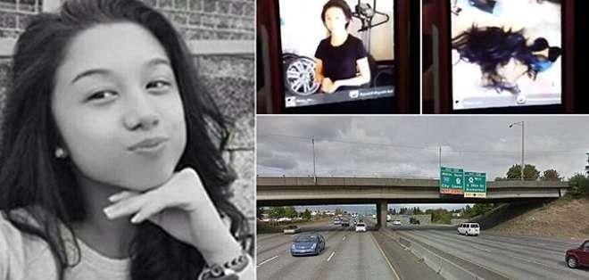 La joven de 13 años se tiró de un puente luego de que su padre le cortó casi todo el pelo y posteó el video en redes sociales.