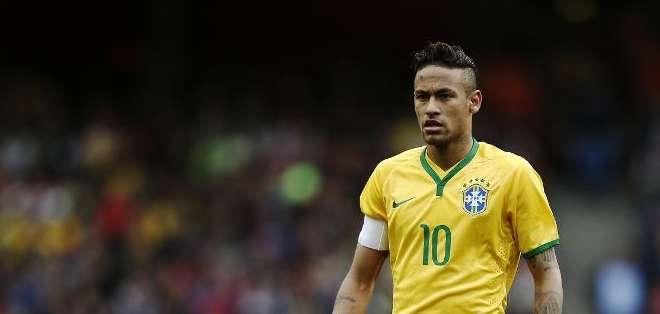 Neymar durante un amistoso contra Chile en Londres, el 29 de marzo 2015.