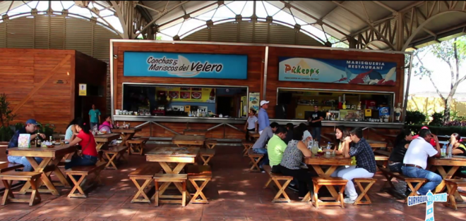 GUAYAQUIL, Ecuador. La 'Plaza de los Mariscos' construida especialmente para todos los comensales que buscan deleitar el paladar con los principales platos típicos de la Costa de Ecuador.