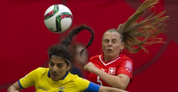 """La """"Tricolor"""" no fue rival para las suizas. Foto: AFP"""