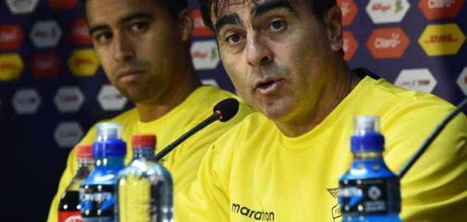 Quinteros no está conforme con el rendimiento de Ecuador. Foto: AFP.