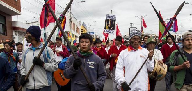 ECUADOR.- Marcha indígena hacia Quito. Foto: API