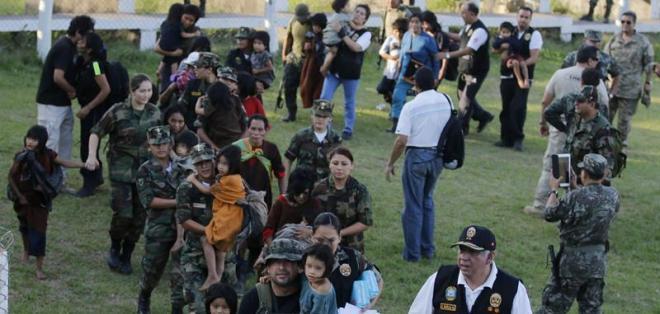 La organización terrorista mantiene entre 170 y 200 prisionerosen condición de esclavitud. Foto: EFE