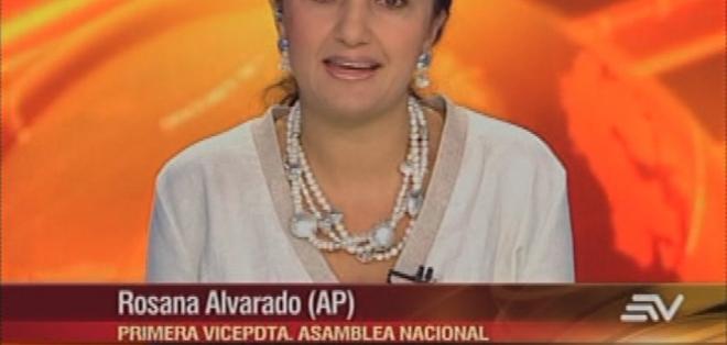 QUITO, Ecuador.- Rosana Alvarado durante su entrevista en Contacto Directo. Foto: Ecuavisa