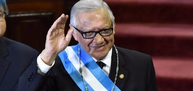 CIUDAD DE GUATEMALA, Guatemala.-Alejandro Maldonado juró este jueves como presidente de Guatemala en sustitución de Otto Pérez. FOTO AFP