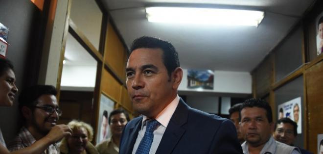 Jimmy Morales se perfila como ganador. Foto: AFP