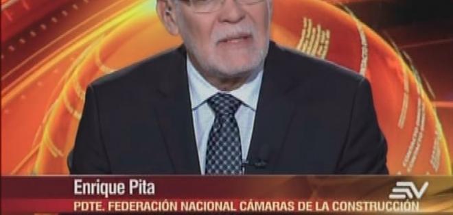 ECUADOR.- Enrique Pita durante su entrevista en el programa Contacto Directo. Foto: Ecuavisa