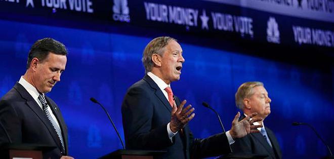 Los candidatos republicanos cumplieron su tercer debate el 28 de octubre.