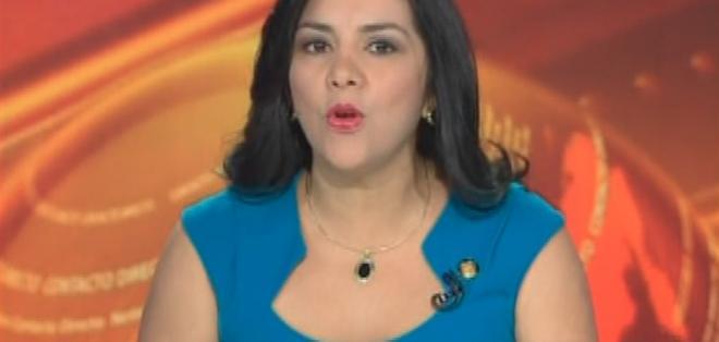 ECUADOR.- Lídice Larrea durante su entrevista en el programa Contacto Directo. Foto: Ecuavisa