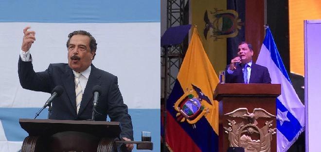 GUAYAQUIL, Ecuador.- Poco más de 24 horas duró la tregua entre el presidente Correa y el alcalde Nebot. Foto: redes