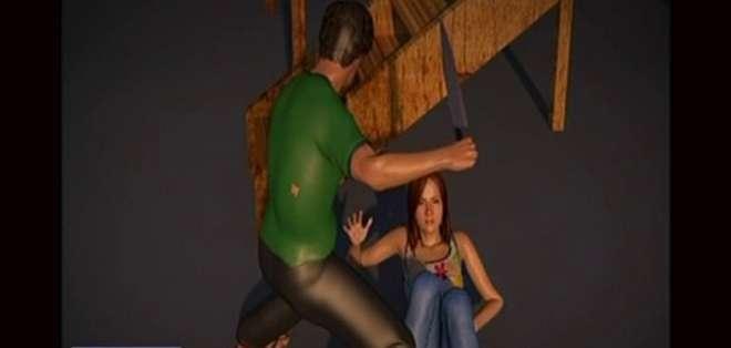 GUAYAS.- Según la hermana de la víctima, la joven tiene 10 cortes en todo el cuerpo. Foto: captura de video