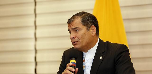"""QUITO, Ecuador.- """"Las investigaciones que se tengan que hacer sin temor, sin pasiones y objetivamente. Hay gente que odia a Luis Chiriboga"""", dijo el mandatario. Foto: Presidencia Ecuador."""