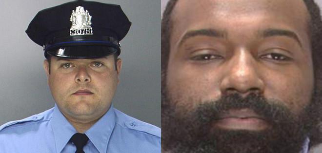 NUEVA YORK, EE.UU.- Jesse Hartnett, de 33 años, recibió tres impactos de bala en su brazo el jueves por la noche de un hombre que le disparó al menos once veces. Foto: Collage.