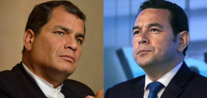QUITO, Ecuador.- Rafael Correa asistirá a la ceremonia en la que Jimmy Morales asumirá la Presidencia de Guatemala. Foto: Collage.