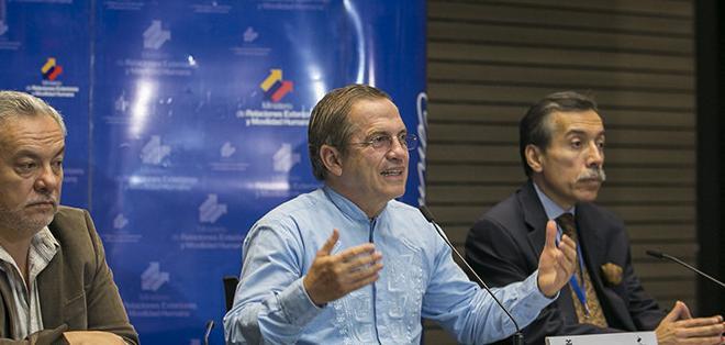 QUITO, Ecuador.- El ministro destacó el proceso de integración de la Celac con China, la Unión Europea, Rusia, Corea del Sur, Turquía e India. Foto: Flickr Cancillería.