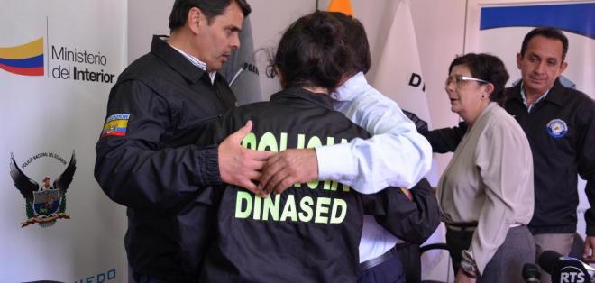 El presunto secuestrador le había prometido trabajo y pedía USD 15.000 por liberarla. Foto: Ministerio del Interior