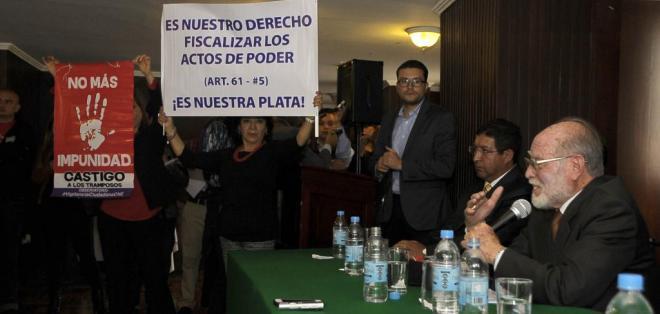 QUITO, Ecuador.- La Comisión Anticorrupción denunció que el Gobierno pagó 50 veces más por el terreno. Foto: API