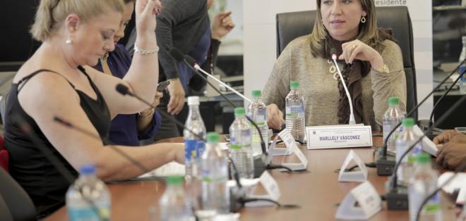 QUITO, Ecuador.- Con siete votos a favor, la Comisión de los Derechos de los Trabajadores aprobó el informe sobre el proyecto de Promoción del Trabajo Juvenil, Protección del Empleo y Seguro de Desempleo. Foto: Asamblea