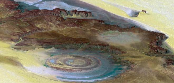 Al impactar con la superficie del planeta, originó un cráter de 200 kms de diámetro. Foto: Pixabay.com