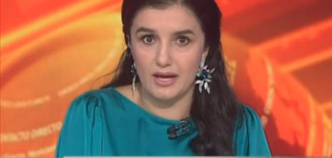 ECUADOR.- Rosana Alvarado durante su entrevista en Contacto Directo. Foto: Ecuavisa