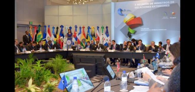 REPÚBLICA DOMINICANA.- Tras una cita de cancilleres, se confirmó un encuentro con miembros europeos para octubre. Foto: Twitter Cancillería de Ecuador