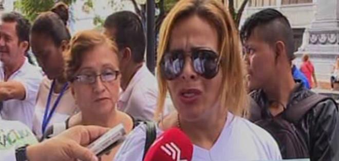 Llegaron hasta la Fiscalía del Guayas para solicitar que se inicien las investigaciones. Foto: captura de video.
