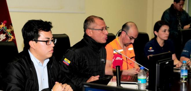 QUITO, Ecuador.- Vicepresidente Jorge Glas declaró estado de excepción.Foto API