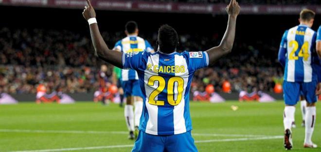 BARCELONA, España.- El fútbol italiano vuelve a poner los ojos en Felipe Caicedo. Foto: EFE.