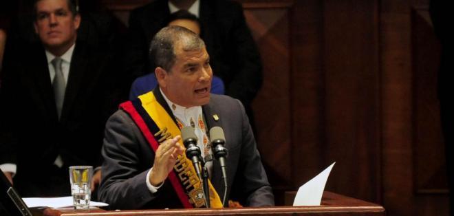 QUITO, Ecuador.- El gobernante hizo el anuncio en la última parte de su informe a la Nación. Foto: API