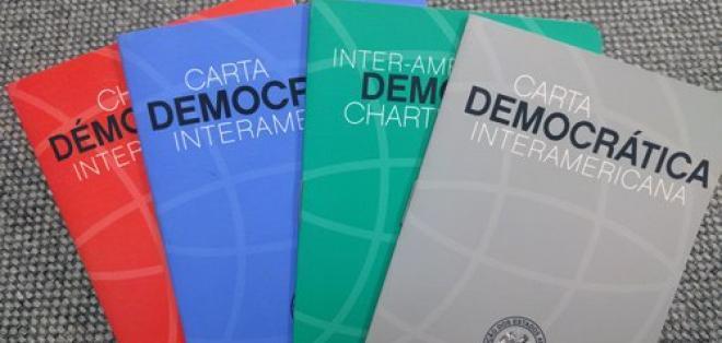Cauce Democrático está conformado por exmandatarios, excancilleres y políticos ecuatorianos. Foto: Archivo / OEA