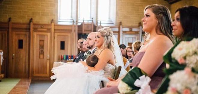 Cuando terminó la ceremonia, Christina decidió compartir la foto en las redes.