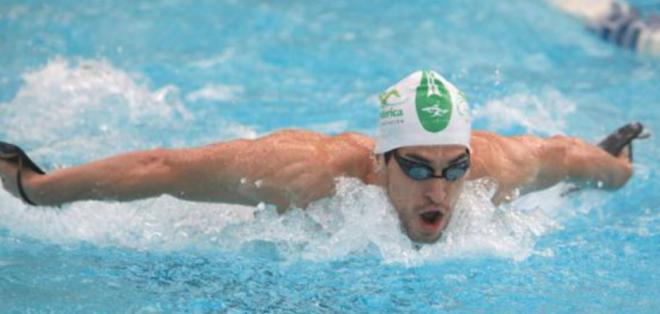 RÍO DE JANEIRO, Brasil.- El nadador ecuatoriano quedó eliminado en los 1500 metros libres.
