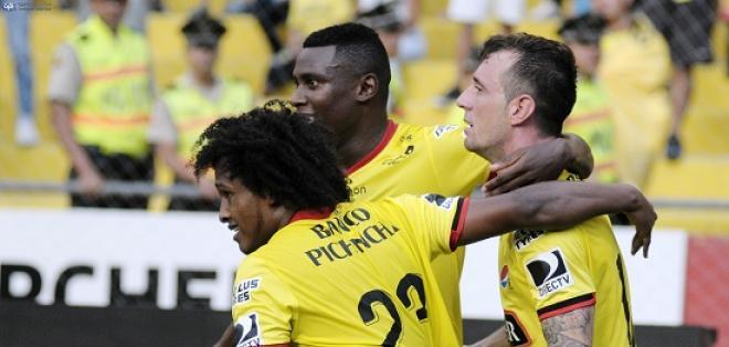 Barcelona volvió a marcar cinco goles en su estadio, esta vez, a Fuerza Amarilla.