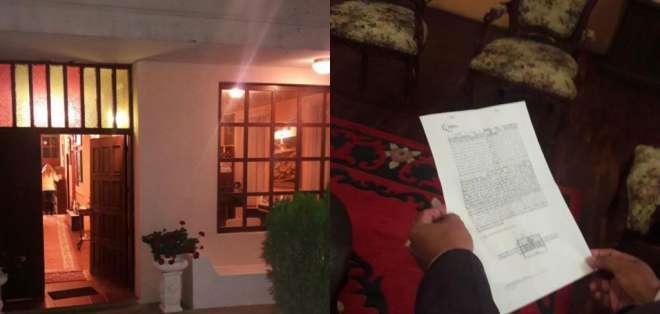 Agentes allanaron el domicilio de Víctor Hugo Erazo en Quito. Foto: Ministerio del Interior