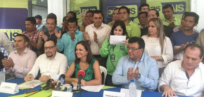 Otros actores políticos hacen llamado a autoridades electorales a ejercer control. Foto: @marcelaguinaga