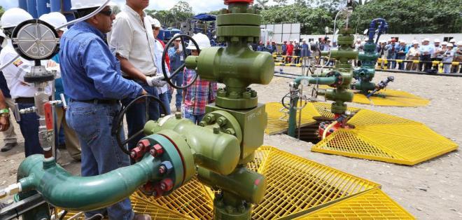 """QUITO, Ecuador.-""""Aquí está la nueva riqueza para el país, hoy romperemos el récord nacional de producción de petróleo"""", expresó Glas. Foto: Flickr Vicepresidencia."""