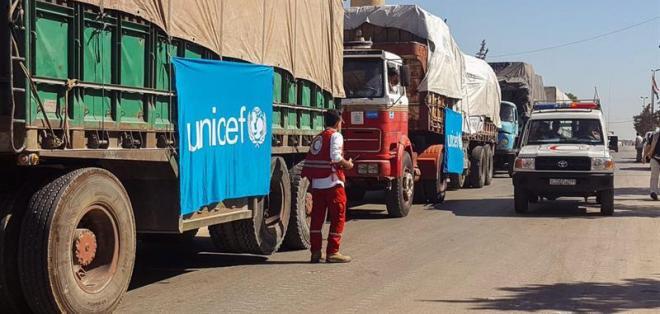 Una persona murió luego de un ataque contra convoy con ayuda para 78.000 personas. Foto: EFE
