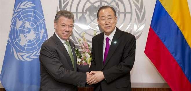 """Ban Ki-moon felicita a Santos por su """"visión y liderazgo"""" para lograr la paz. Foto: EFE"""