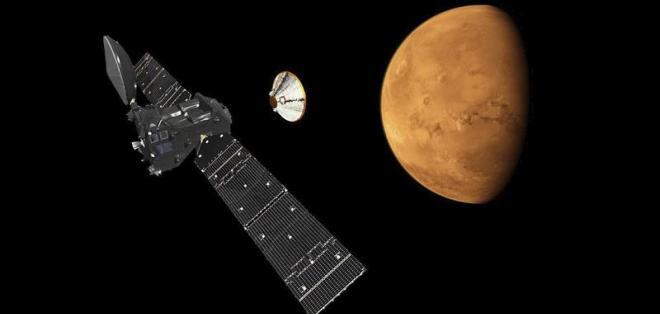 La agencia reportó que la sonda rusoeuropea TGO entró en órbita en Marte. Foto: Archivo de EFE