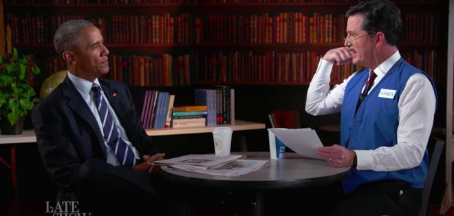 Obama se animó a bromear sobre su futuro en el programa de Stephen Colbert.