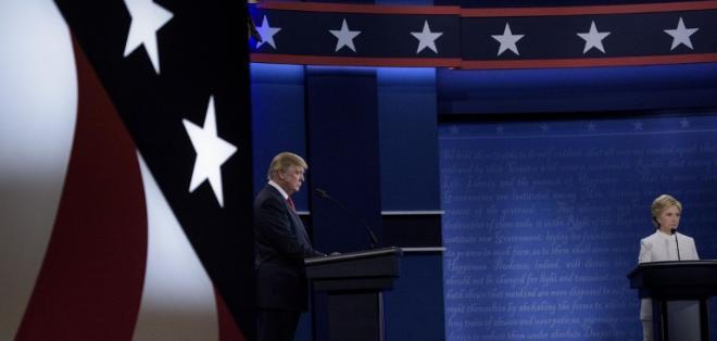 La encuesta rápida que de la cadena CNN le dio a Clinton un 52% y a Trump un 39%. Foto: AFP