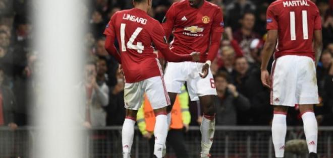 Paul Pogba y Jesse Lingard convirtieron para el United. Foto: AFP