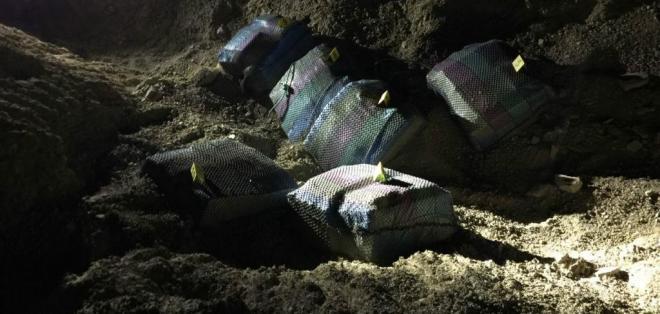 Son más de 630 kilos de cocaína que pretendían enviarse vía marítima hacia Centroamérica. Foto: Ministerio del Interior