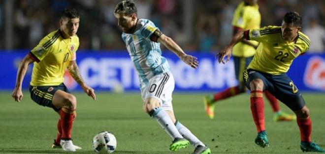 Lionel Messi fue la figura de Argentina en la victoria sobre la selección de Colombia.