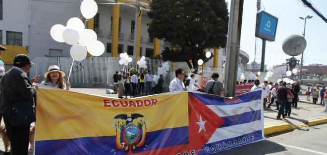 Embajador de Cuba en Ecuador agradeció las muestras de apoyo hacia el pueblo de la isla. Foto: API