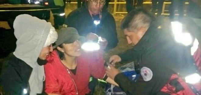 Eran parte de un grupo de 5 turistas que ascendían durante la noche del sabado. Foto: Policía Nacional