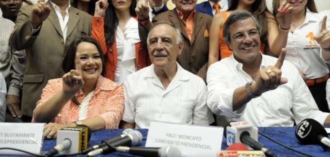 Paco Moncayo y Monserrat Bustamante el Binomio presidencial de ID