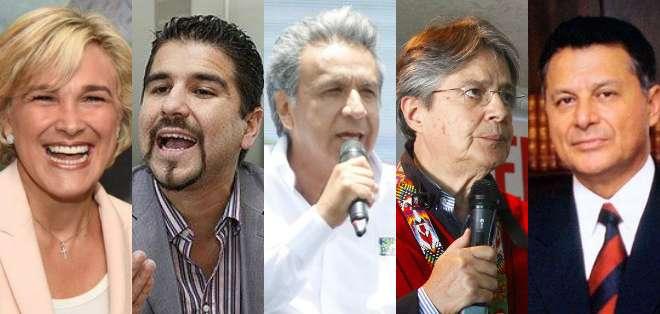 Candidatos presidenciales hacen campaña en Quito, Guayaquil y Machala. Foto: Collage.