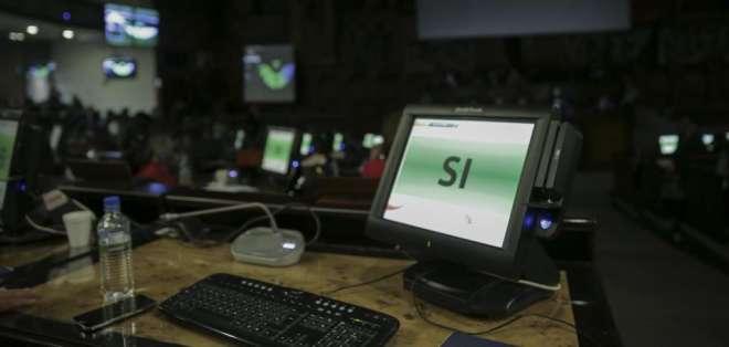 Además de 2 votos en contra y una abstención, algunos asambleístas enviaron sus alternos. Foto: Asamblea Nacional