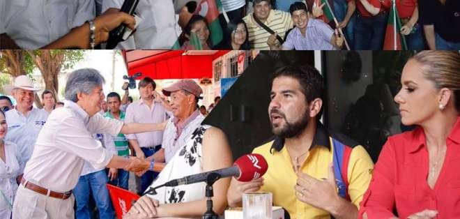 ECUADOR.- Lasso y Bucaram estuvieron en Guayaquil; Pesántez en Manabí y Zuquilanda en Sucumbíos. Collage: Ecuavisa, Fotos: API